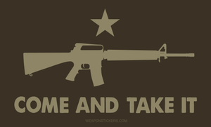 Come and Take It Flag Sticker<br>(Brown & Tan) M16