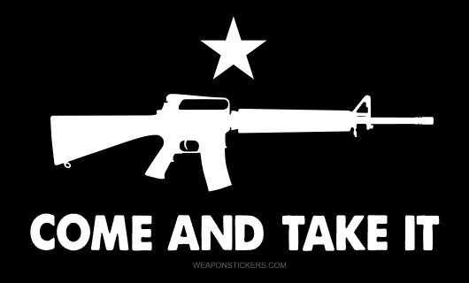 Come and Take It Flag Sticker<br>(Black & White) M16