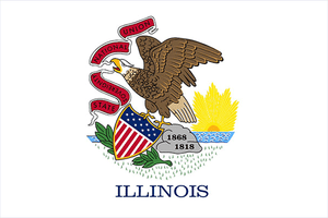 Illinois State Flag Sticker