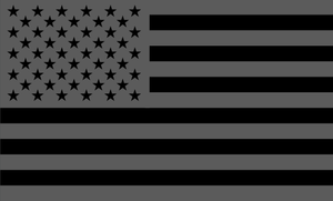 American Flag Sticker<br>(Gray & Black) FWD