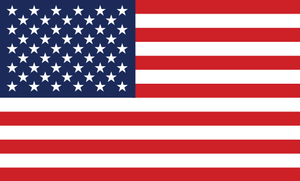 American Flag Sticker<br>(Red, White & Blue) FWD
