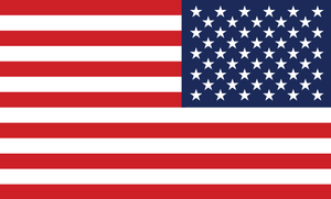 American Flag Sticker<br>(Red, White & Blue) REV