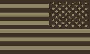 American Flag Sticker<br>(Brown & Tan) REV