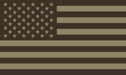 American Flag Sticker<br>(Brown & Tan) FWD