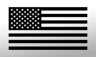 American Flag Decal(Black) FWD