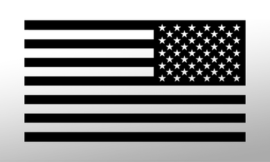 American Flag Decal<br>(Black) REV