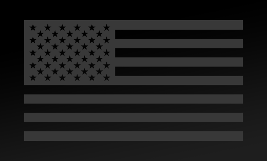 American Flag Decal<br>(Dark Gray) FWD