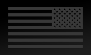American Flag Decal<br>(Dark Gray) REV