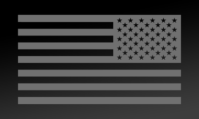 American Flag Decal<br>(Medium Gray) REV