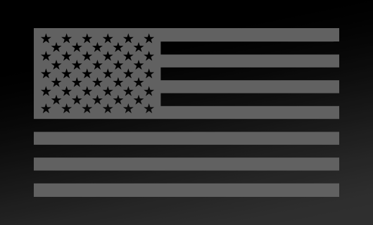 American Flag Decal<br>(Medium Gray) FWD