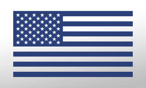 American Flag Decal<br>(Dark Blue) FWD