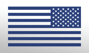 American Flag Decal<br>(Dark Blue) REV
