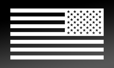 American Flag Decal<br>(White) REV