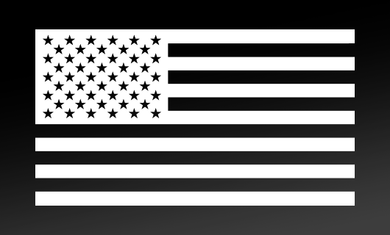 American Flag Decal(White) FWD