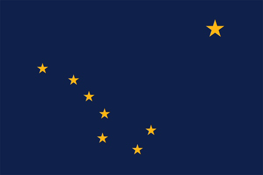 Alaska State Flag Sticker
