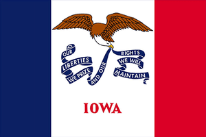 Iowa State Flag Sticker