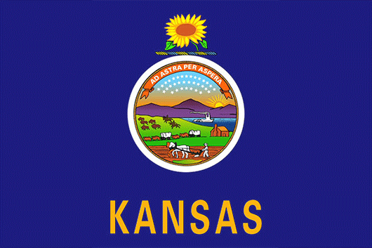 Kansas State Flag Sticker