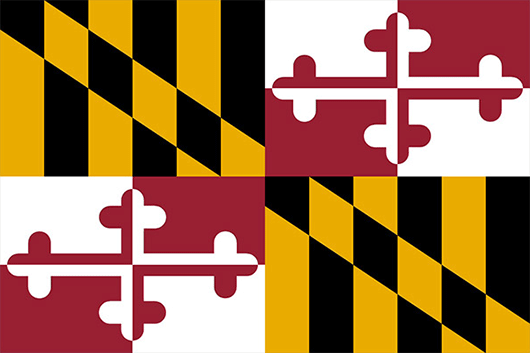 Maryland State Flag Sticker