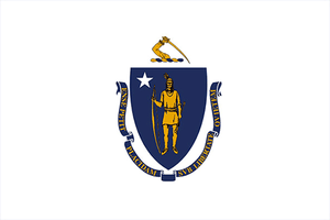 Massachussetts State Flag Sticker