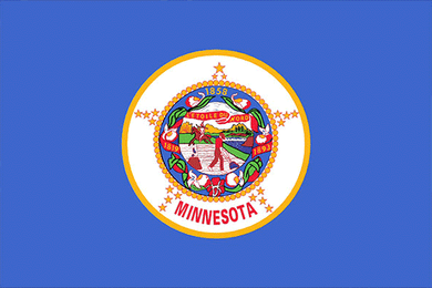 Minnesota State Flag Sticker