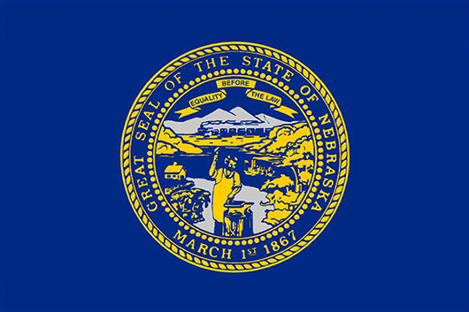 Nebraska State Flag Sticker