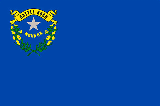 Nevada State Flag Sticker