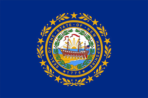 New Hampshire State Flag Sticker