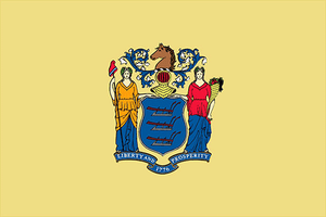 New Jersey State Flag Sticker