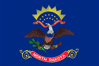 North Dakota State Flag Sticker