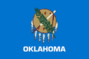 Oklahoma State Flag Sticker