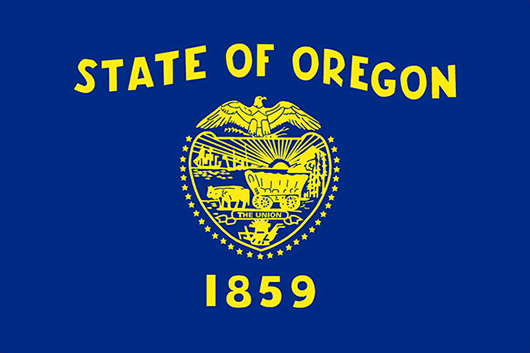 Oregon State Flag Sticker