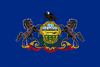 Pennsylvania State Flag Sticker