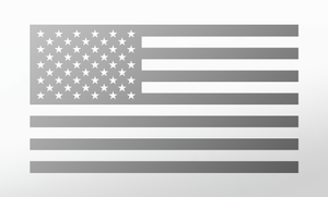 American Flag Decal<br>(Silver) FWD