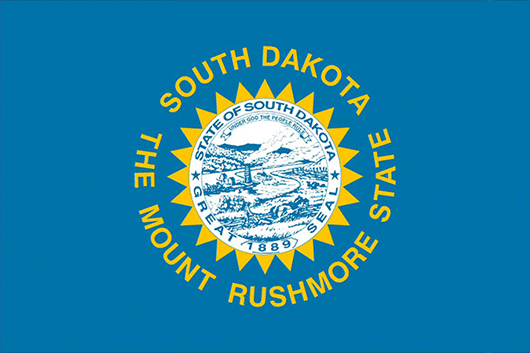 South Dakota State Flag Sticker