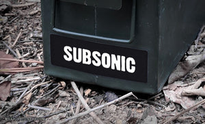 Ammo Label: SUBSONIC