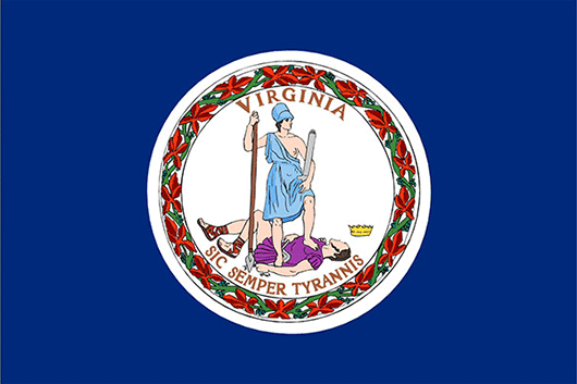 Virginia State Flag Sticker