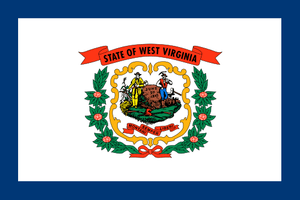 West Virginia State Flag Sticker