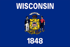 Wisconsin State Flag Sticker