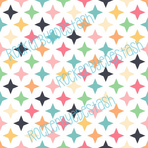 Retro Stars Cotton Lycra
