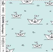 Paper Boats Mint Cotton Lycra