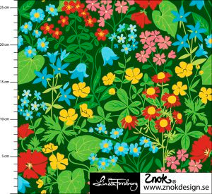 Green Flower Fields Cotton Lycra