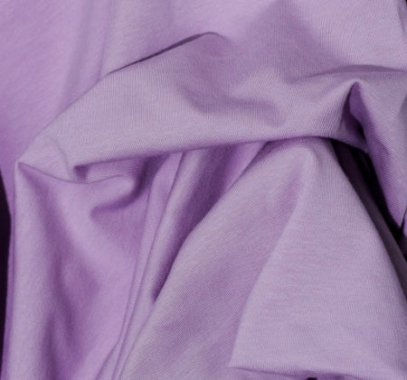 Lavender Solid Cotton Lycra