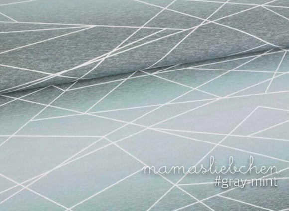 Shapelines Gradient Grey Mint Cotton Lycra Remnant