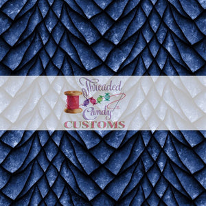Blueberry Scales Cotton Lycra Remnant