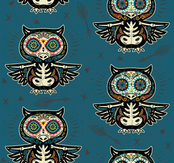 Sugar Owls Cotton Lycra Remnant