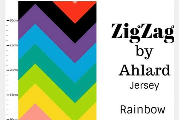 Rainbow ZigZag Cotton Lycra