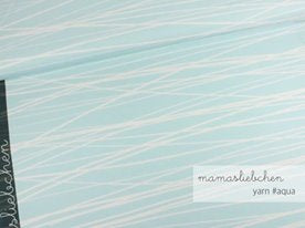 Aqua Yarn Stripes Cotton Lycra