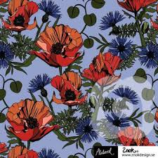 Blue Poppy Cotton Lycra