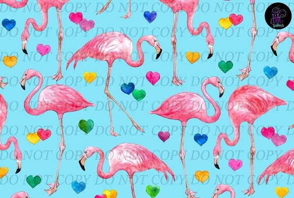 Flamingo Love Blue