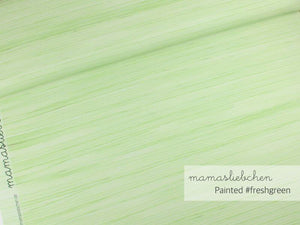 Painted Fresh Green Cotton Lycra